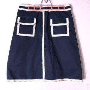 Carolina Herrera Blue/White A-Line Skirt size 12